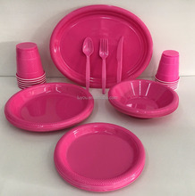 disposable plastic solid color partyware