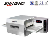 W463D-6 18' Gas Convection Hot Air Pizza Conveyor Oven With Computer Panel