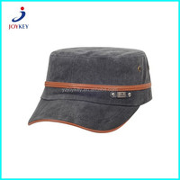 promotion leather patch military cap