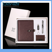 New leather promotional silver jubilee corporate gift set