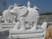 Large Garden Stone Elephant Animal Statues