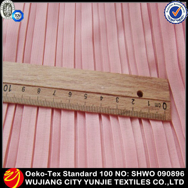 High Quality Fashion Polyester Accordion Pleats Chiffon Fabric