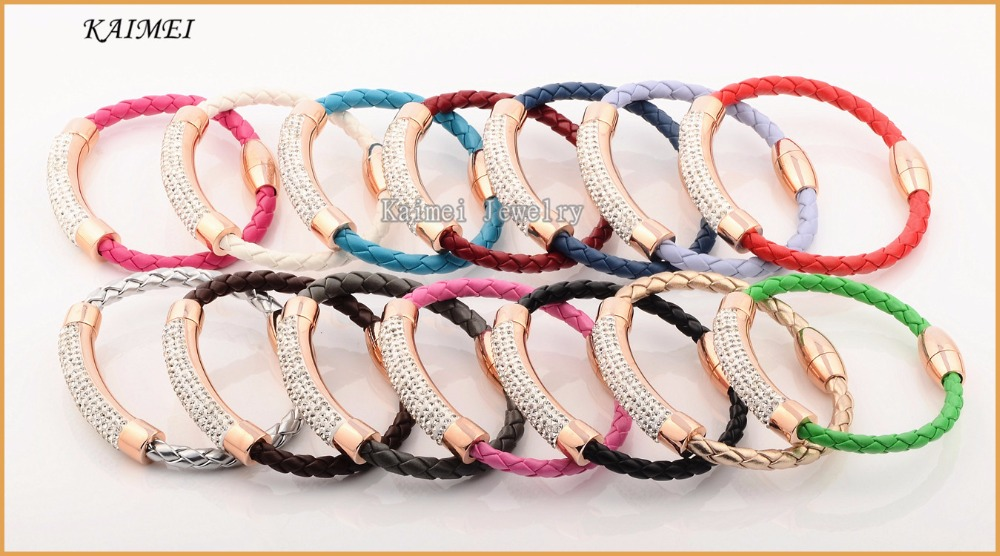 High Quality Hot Sale Jewelry All Kind Of Crystal Bracelet For Women Leather