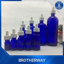 200ml pharmaceutical use cobalt blue glass bottle glass cosmetic bottle with plastic cap