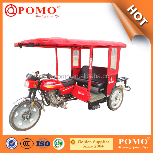 China Made Popular Passenger Transport Triciclo Eletrico Usado, Tricycle Food Cart, Diesel Auto Rickshaw
