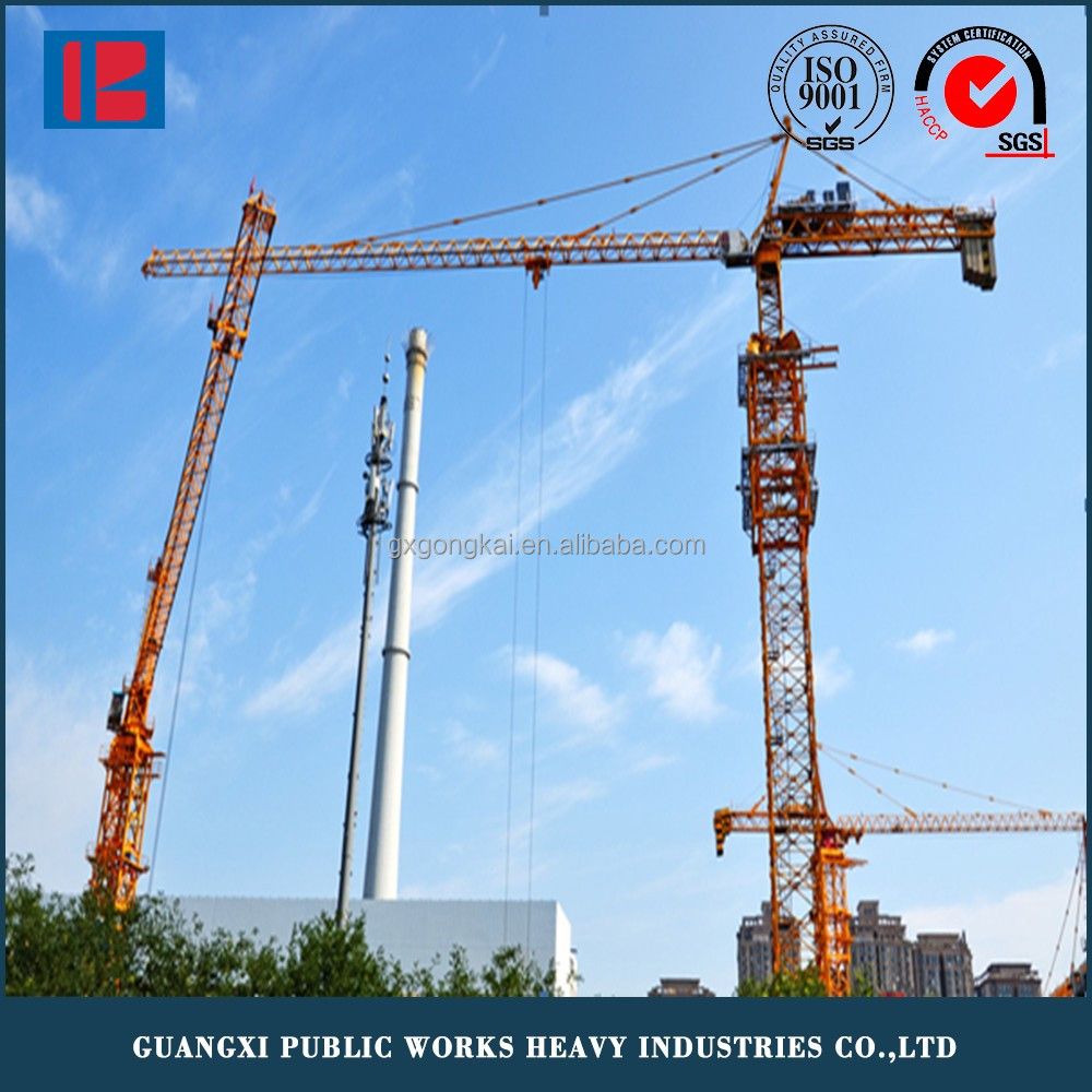 QTZ6013 Construction Tower Crane with Tower Crane Spare Parts