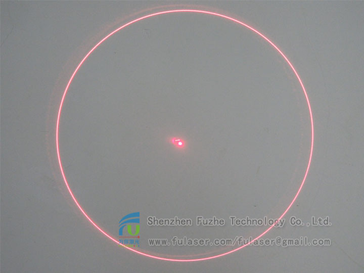 FU650YQD100-GD16 DOE Concentric rings rings circle rounded circular circularity pattern laser