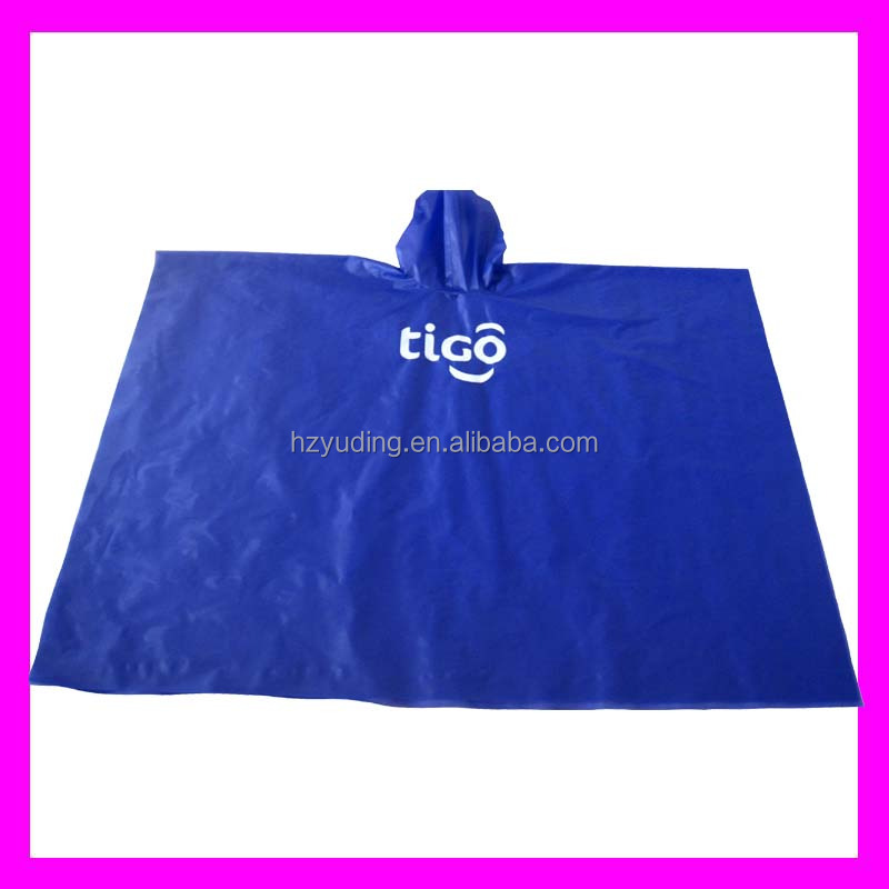 PVC/EVA/TPU RAINCOAT RAIN PONCHO WITH LOGO