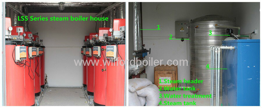 industrial gas fired steam boiler for eps line