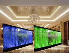 Customise latticed bubble wall,water dance wall,indoor screens partitions