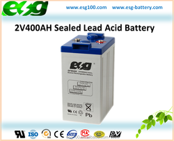 2V400AH Uninterrupted Power Source Backup Power Rechargeable Industrial Battery
