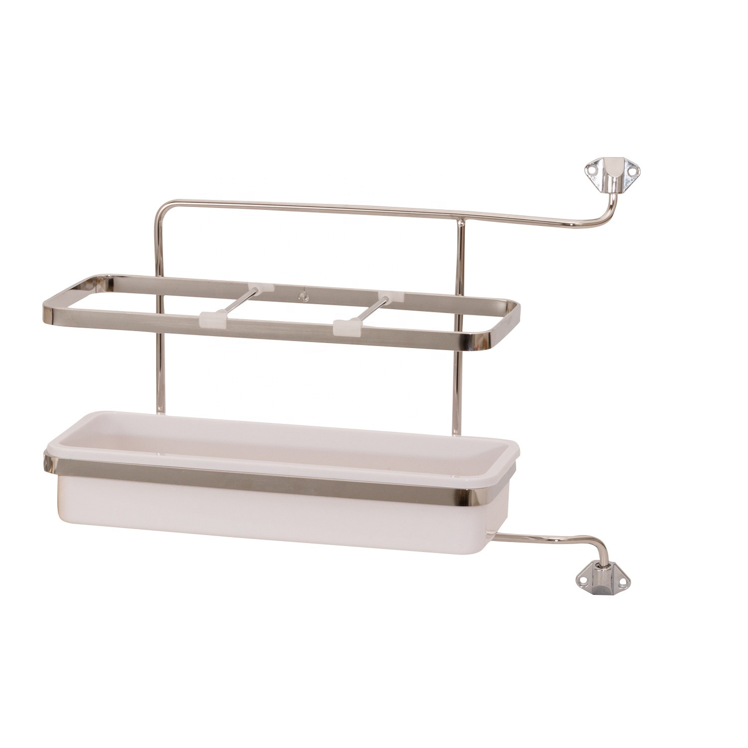 Multipurpose Sliding Adjustable powder coated a layer gray metal cabinets rack plastic storage shelf