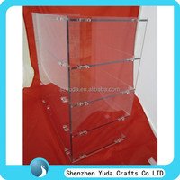 High quanlity acrylic bread show case bread display rack food stand