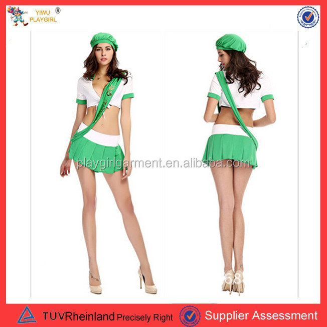 PGWC1268 Adult Sexy Party Halloween School Girl Cheerleader Uniformes Picture of Cheerleading Costume