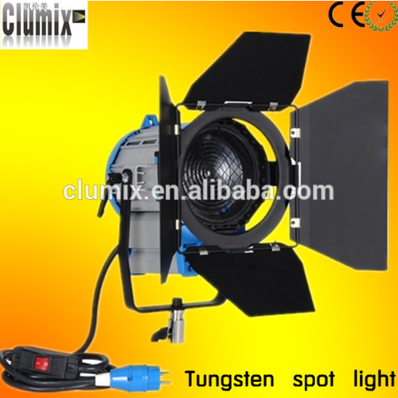 500w tungsten light/fresnel spot light with dimmer