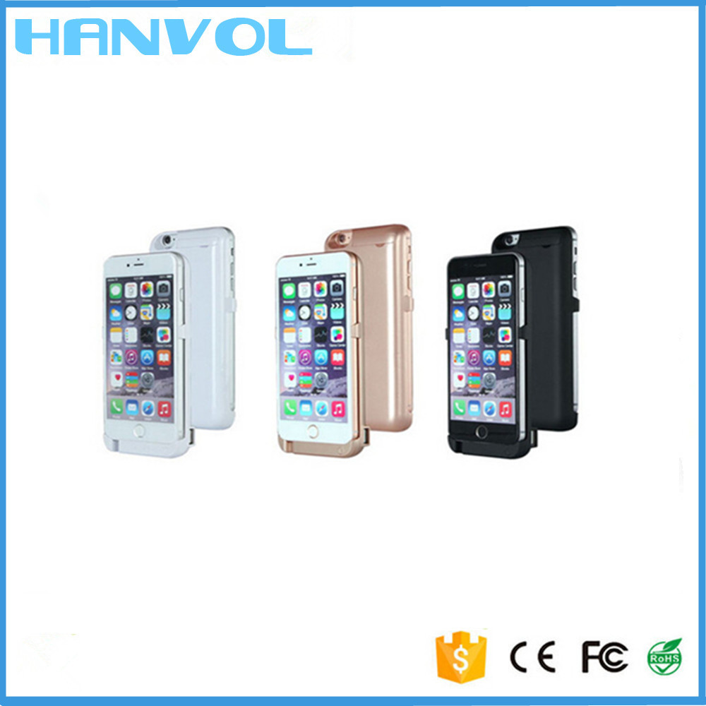 manufacturer ultra thin power case for iphone 6, external backup battery cell phone covers