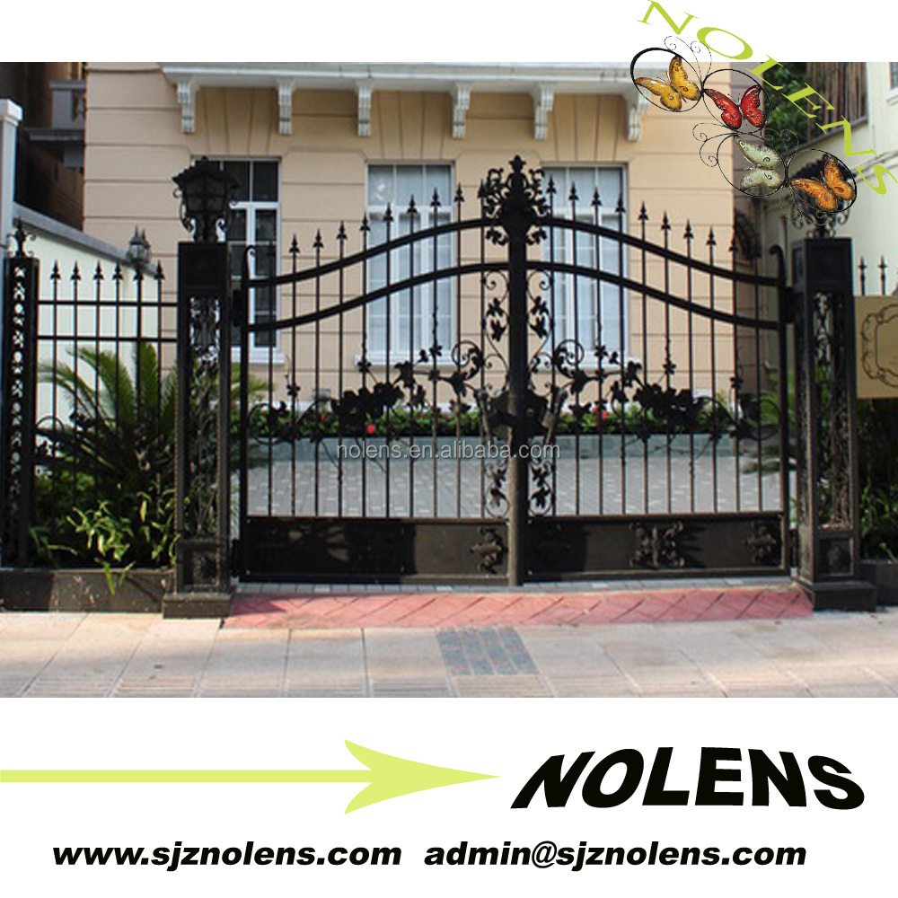 morden paints for iron gate/Modern Luxurious Craft wrought iron gate designs