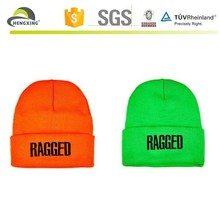 Neon boys teenagers knitted beanie hats