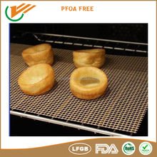 TEFLON non stick coating roasting crisping pizza mesh mat or basket