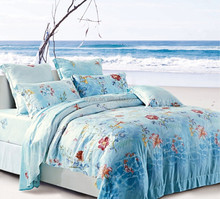 single size 250TC 100% tencel printing bed set duvet cover