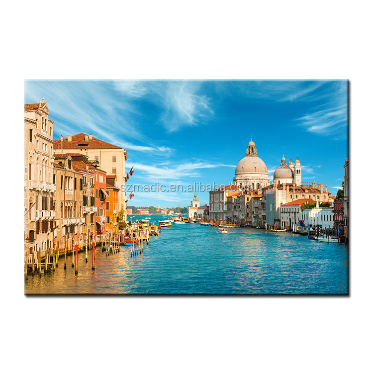 Modern Wall Art Home Decoration Dafen Oil Painting HD Printed Picture Venice Landscape in Italy Canvas Print Painting