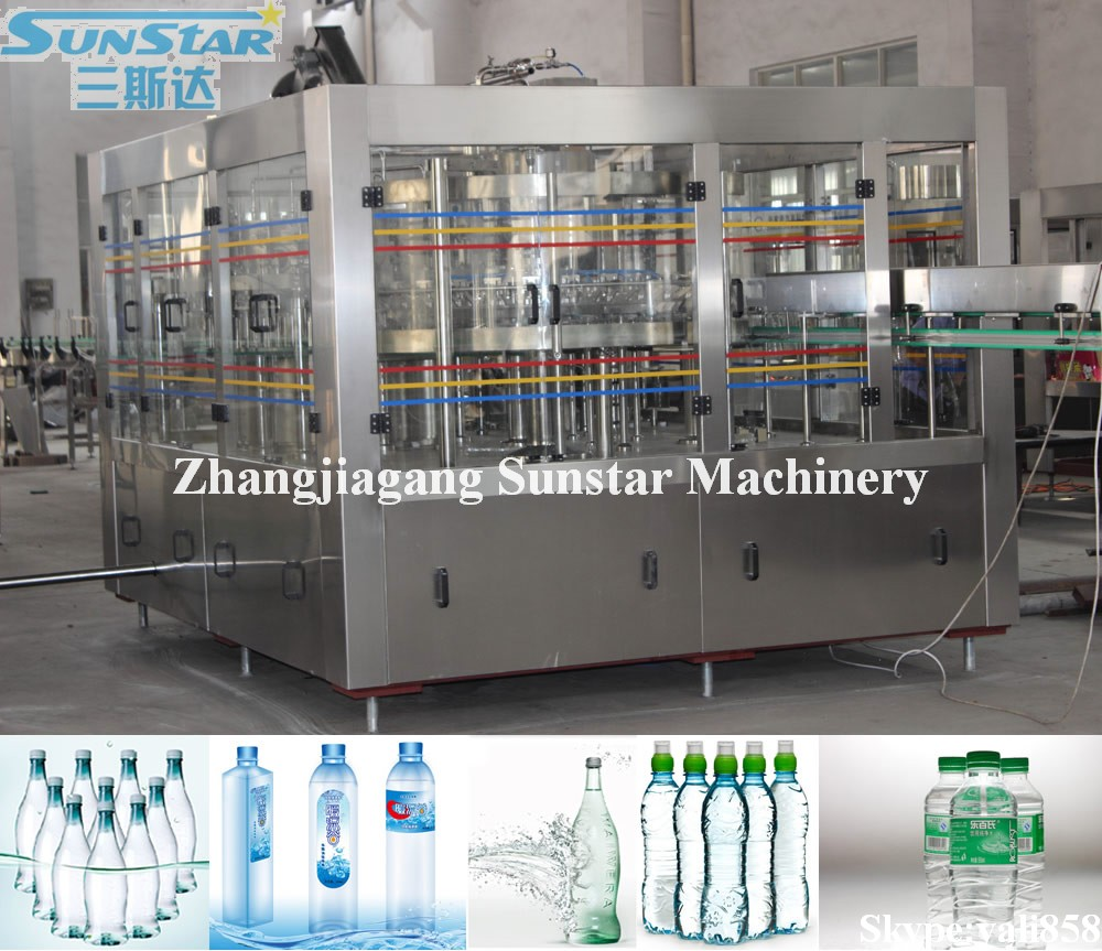 Automatic Plastic Bottled Mineral Water Plant