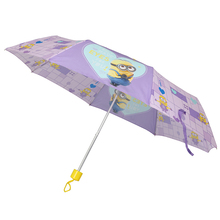 Carton cute minions pegman 3 folds children kid umbrella
