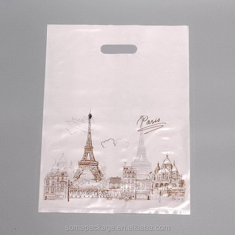Attractive fashion promotional die cut food compound plastic bag