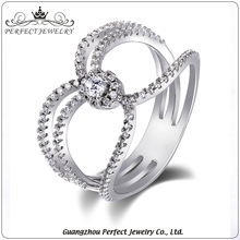 letest design women accessories micro pave AAA zircon engagement ring with high quality
