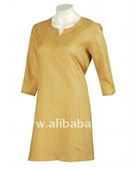 Gold Colour Short Kurta