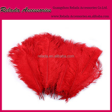 Wedding centerpieces Decoration Dyed red cheap Ostrich feather