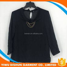 Top selling top grade blouse front neck design