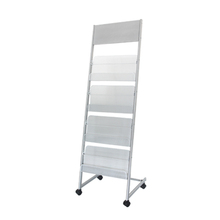 display stand for magazine and newspaper slotted angle shelving metal storage rack with wheels