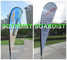Mesh banner promotional flags cheap teardrop flag wing banner