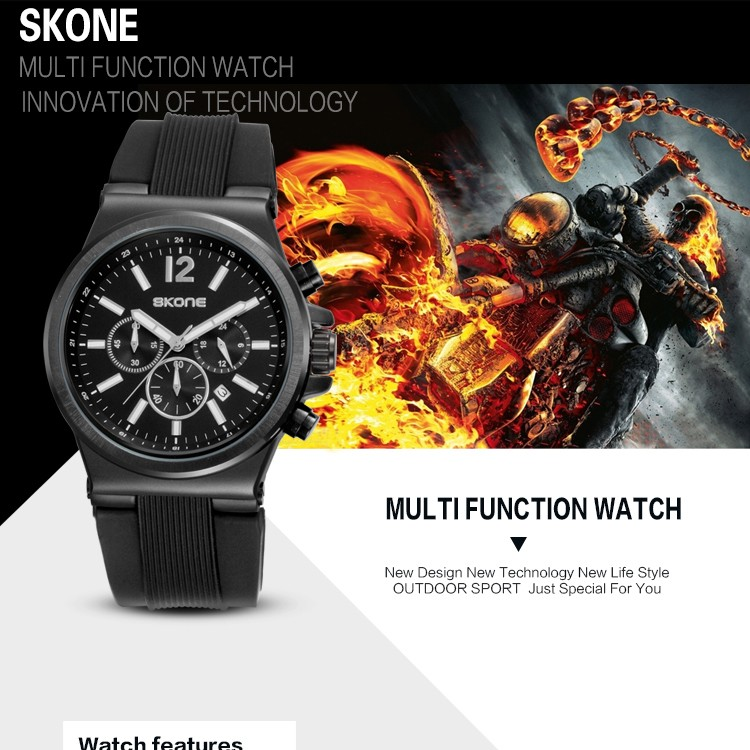 2017 Skone Mens Watches Top Brand Luxury Quartz Watch Fashion Men Watches