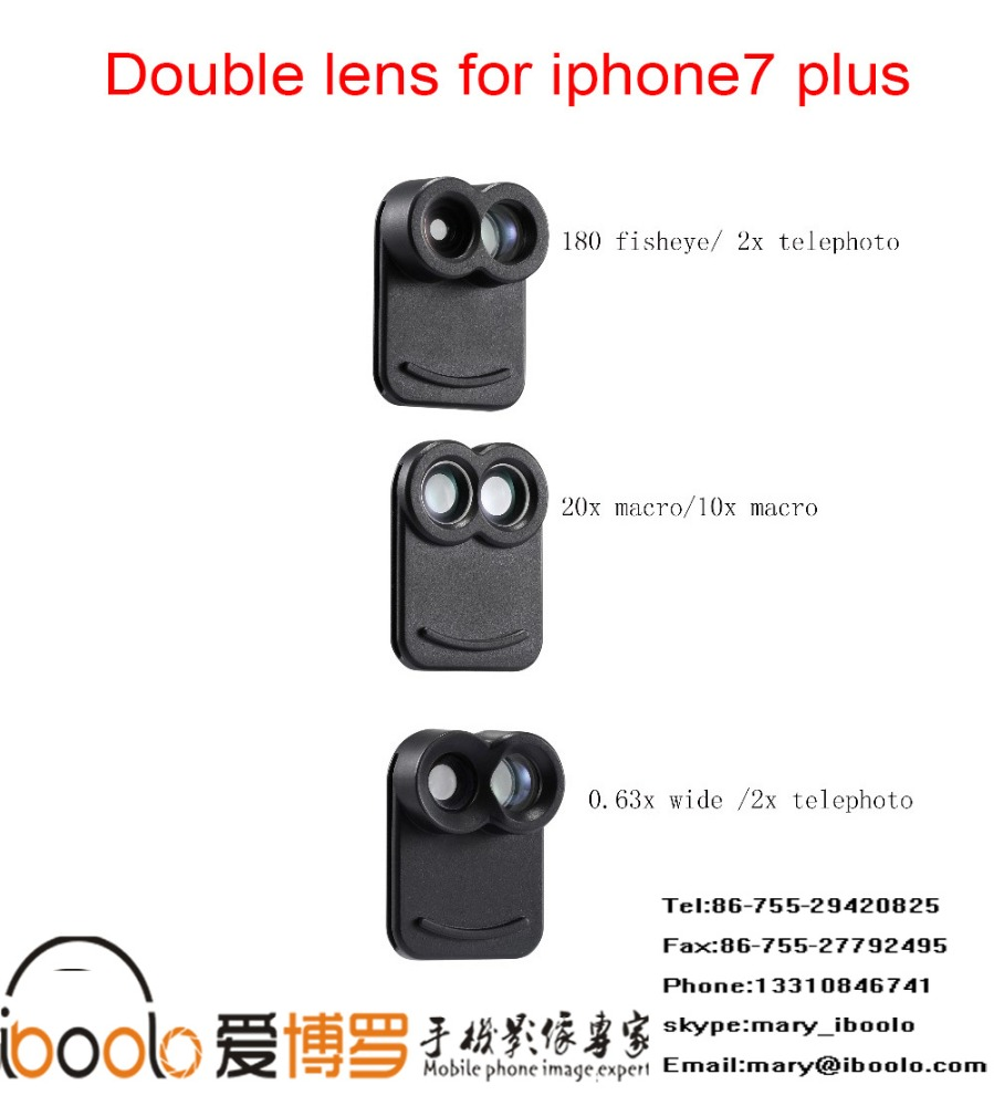the New lens for 2017,0.63x wide and 2x telep lens for iphone7 plus