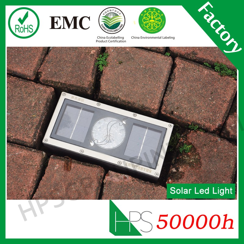 5 colors IP68 led solar powered lights solar brick