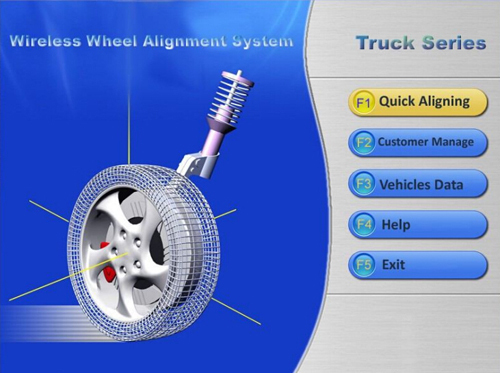 truck computer laser wheel alignment machine for sale
