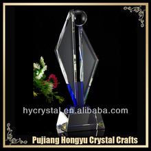 business gift crystal sailboat trophy award