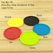 Promotion Wholesale Waterproof Round Customized Logo Coffee Tea Silicone Cup Mat