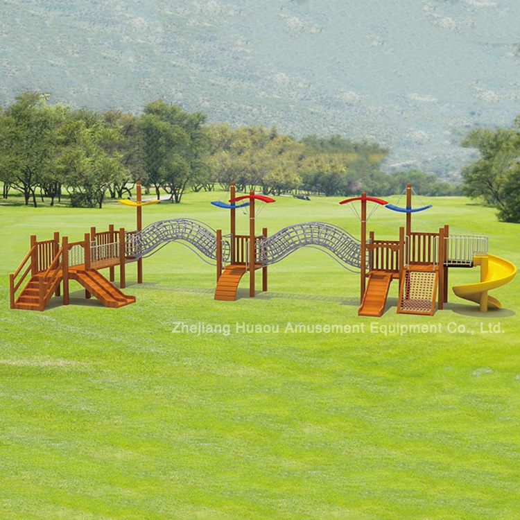 Hot sale outdoor Wooden Playground soft play equipment for kids