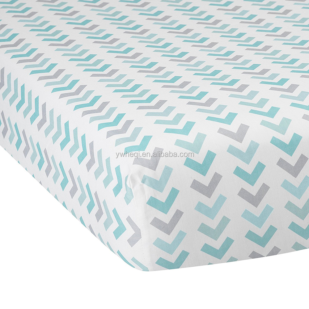 100% Organic Crib Sheet for Standard Crib and Toddler Mattresses Baby Bold Stripe Fitted Sheet