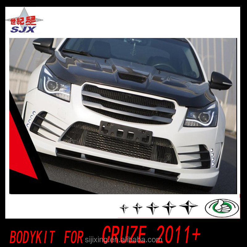 Original body kit front and rear bumper for cruze Body Kit For 2011-2013 Chevrolet Cruze Duraflex Racer