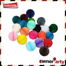 Party Decoration Paper Craft Colorful Tissue Paper Honeycomb Decorations