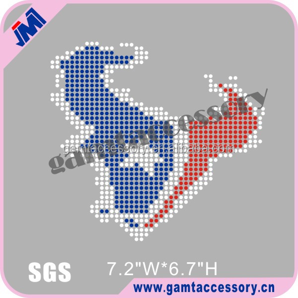 Custom Bling Texans Motif Hot Fix Rhinestone Transfer for Apparel