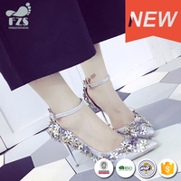 HFR-S14082010 European new design hot sale autumn-winter fashion hign heel lady shoes