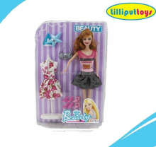 "Elegant 11.5"" Doll Set in Fashion Girls DIY Toy"