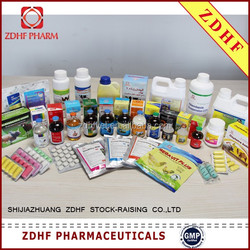 ZDHF large animals product catalog antiboitic drug oxytetracycline injection 10%