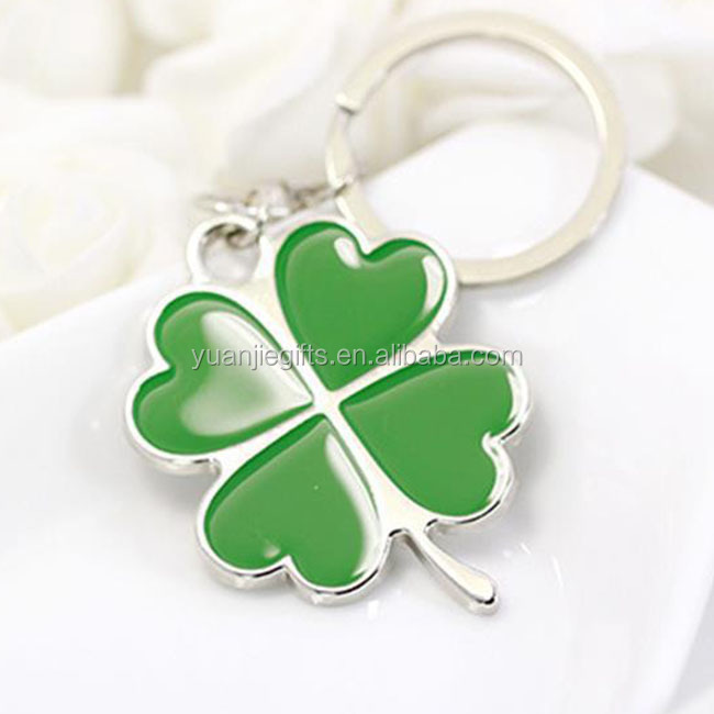 Free mold fashion metal four leaf lucky clover key chains