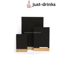 Table Display Menu Holder wooden table chalkboard sign